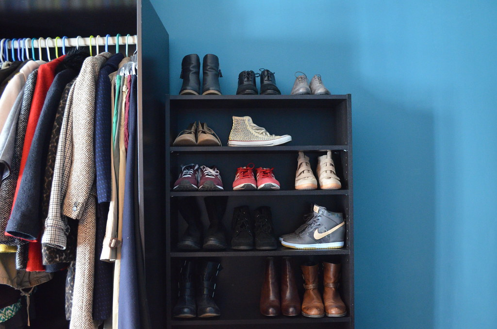 New Shoe Storage Ikea Billy Bookcase Plus Pax Closet | Flickr