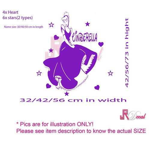 pics photos cinderella decals disney princess wall cinderella glamour giant wall stickers stickers for wall com