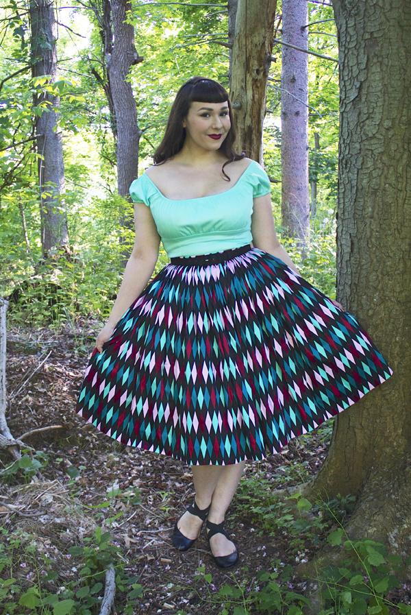 harlequin skirt