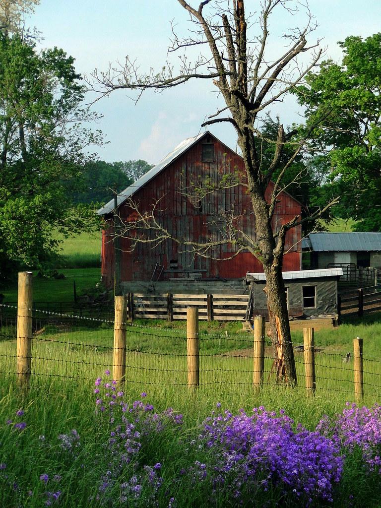 Barn In Springtime A Pretty Rural Scene Near Salem