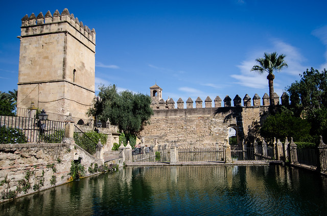 Alcázar de los Reyes Cristianos, or, the Castle of the Christian Monarchs, once the home of Isabella I of Castile and Ferdinand II of Aragon. The buildings
