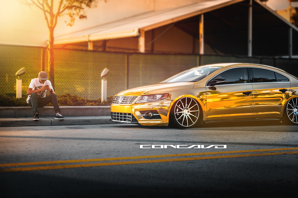 Volkswagen Cc Gold Bagged Cw 12 Matte Black Machined