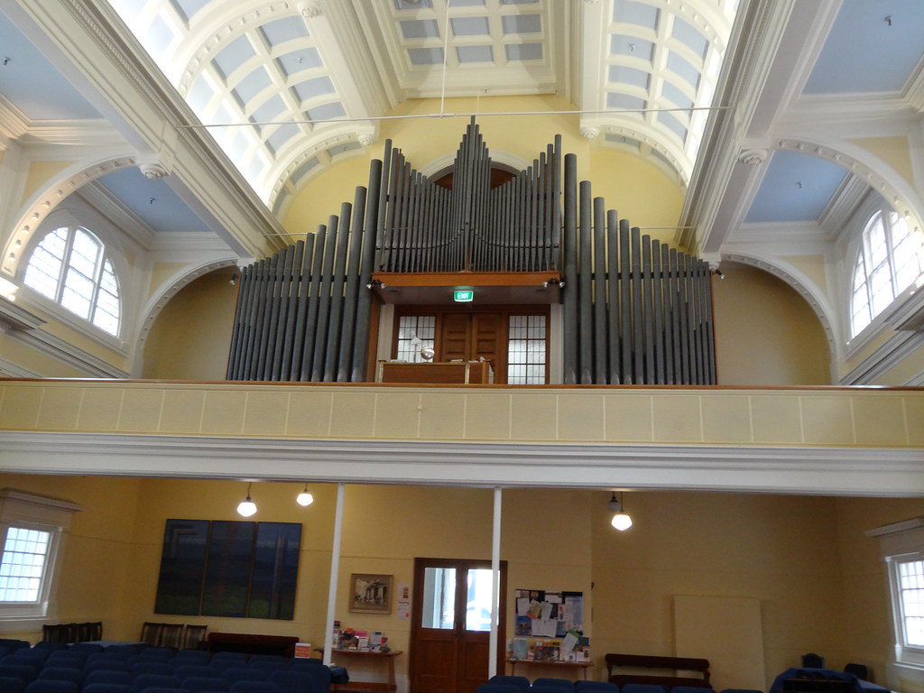 A closer view of the magnificent pipe organ in st andrews for 136 the terrace wellington