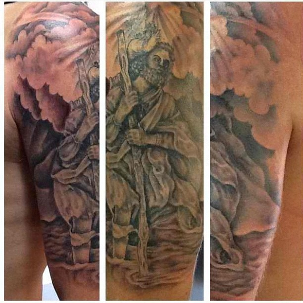 st christopher tattoos pictures white rat photo akin ogunbiyi profile picture zaheer wife. Black Bedroom Furniture Sets. Home Design Ideas
