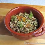 Linsen-Couscous mit Rosinen und Aprikosen