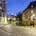 Place Dalida and Rue de l'Abreuvoir by Night