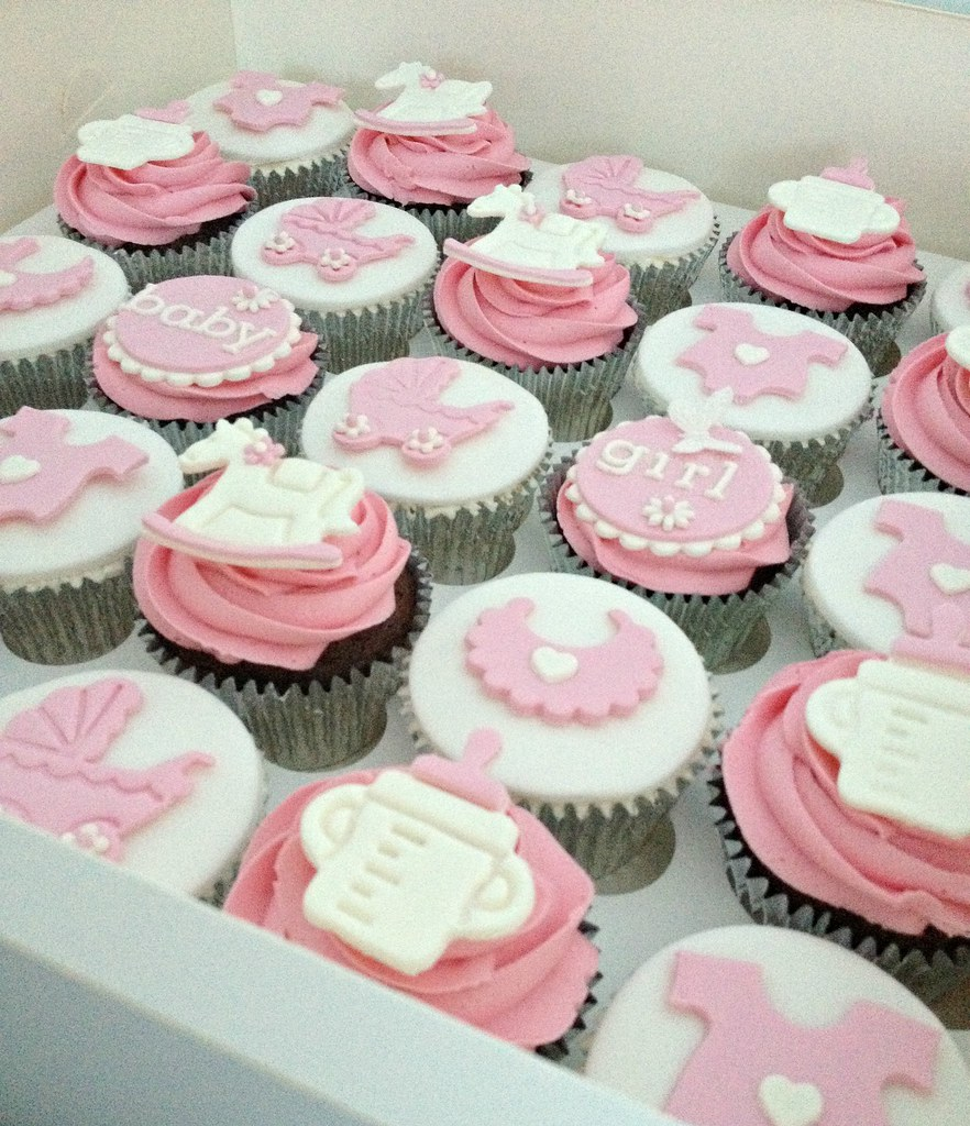 Pink Baby Shower Cupcakes | SwirlsBakery | Flickr