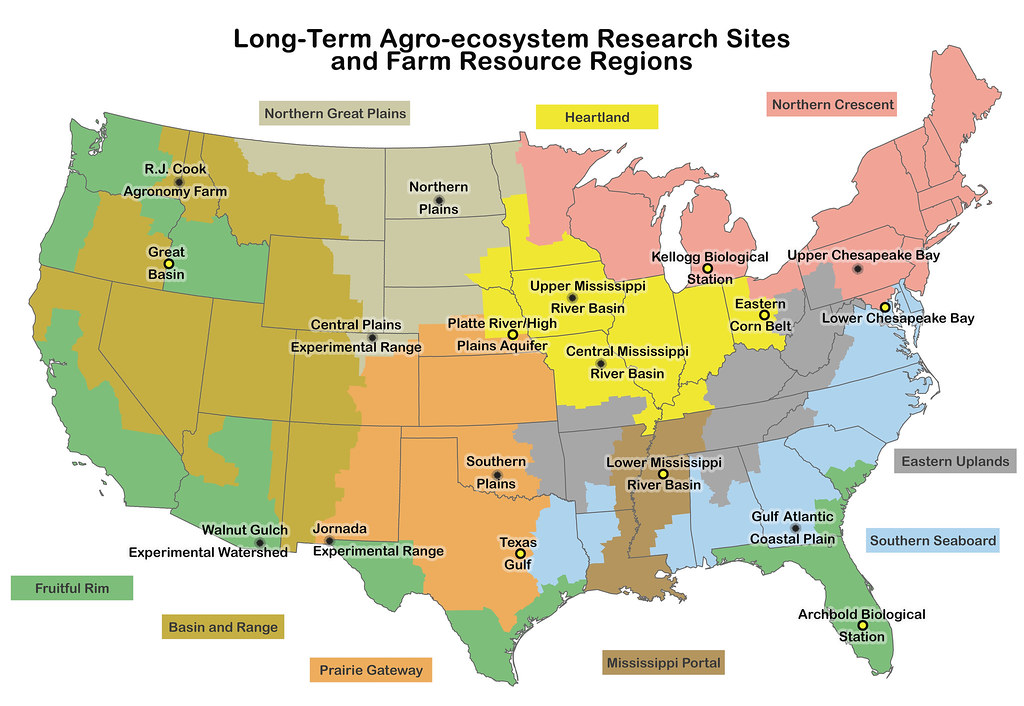 Ltar sites map by farm resourceregions with new sites for How to get free land in usa