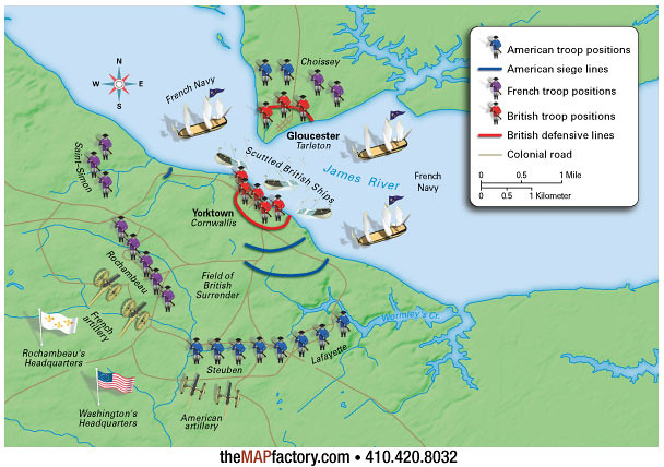 american siege during the battle of yorktown As the combined american and french armies marched south, a battle between the french and british fleets in the chesapeake bay sealed the fate of general cornwallis and his british troops at yorktown.