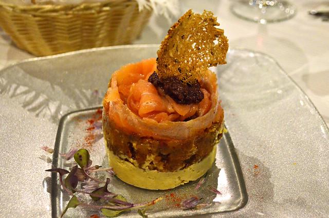 smoked salmon and hummus tartare, Bambi Gourmet, Puerto de la Cruz, Tenerife