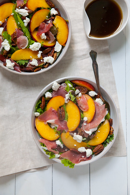 Peach, Proscuitto and Pecan Summer Salad
