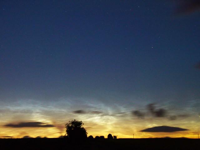 Noctilucent clouds (enhanced brightness)