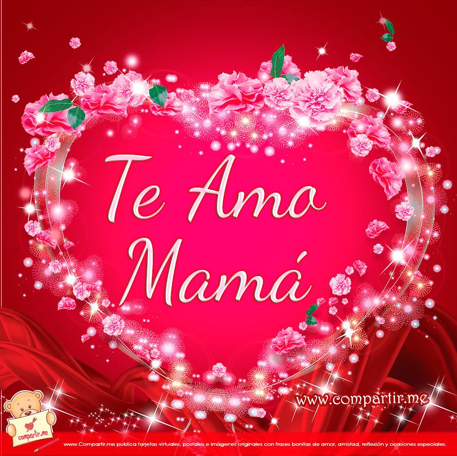 All Sizes Frases De Amor Bello Corazón Con Palabras Te Amo Mamá