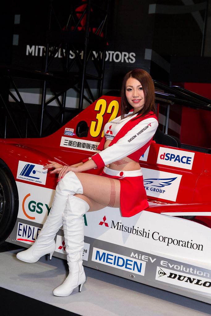 MITSUBISHI Motors -Tokyo Auto Salon 2014 Show Girl (Makuha… | Flickr