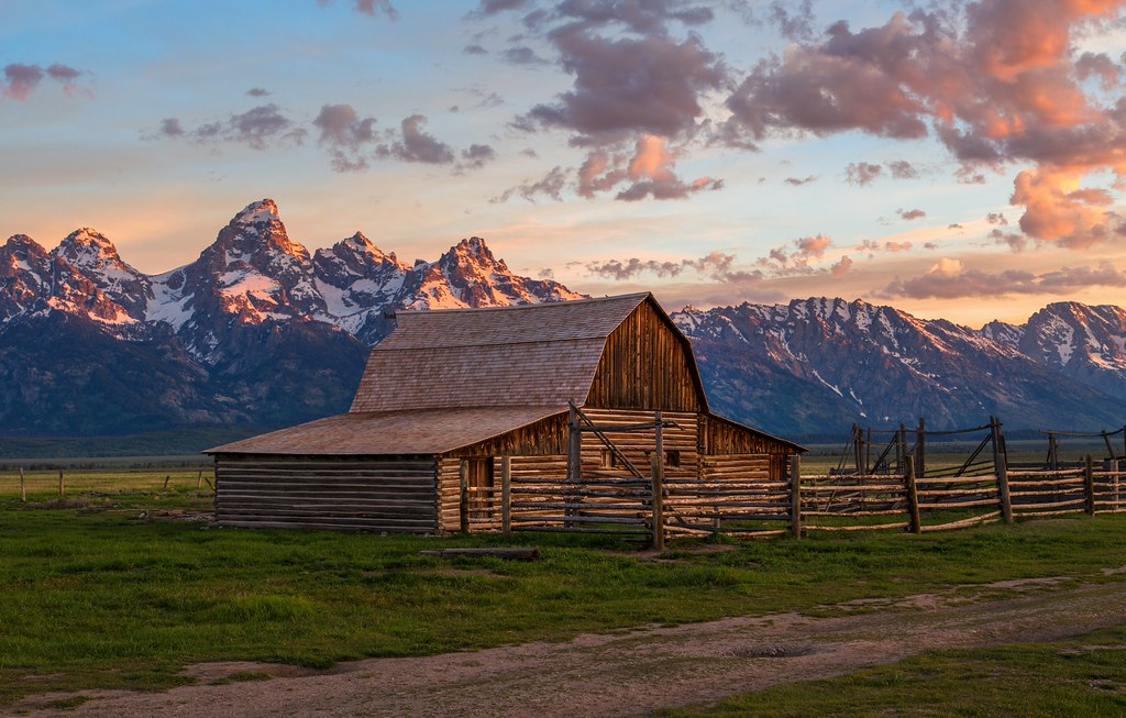 T A Moulton Barn Sunrise Grand Teton National Park