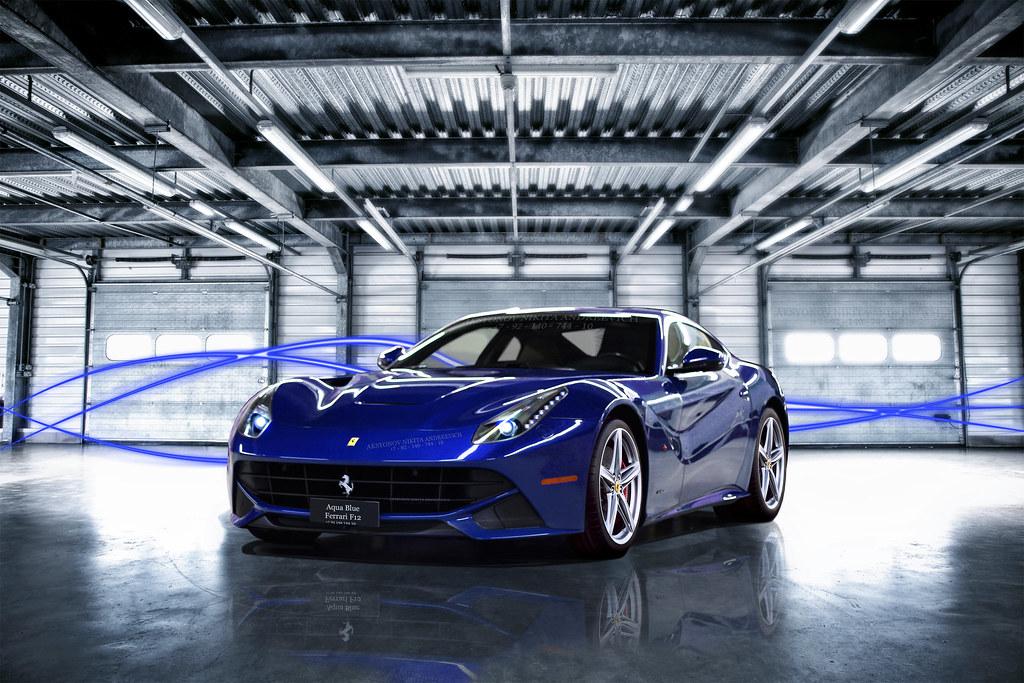 Ferrari F12 Berlinetta Aqua Blue | www.flickr.com/photos ...