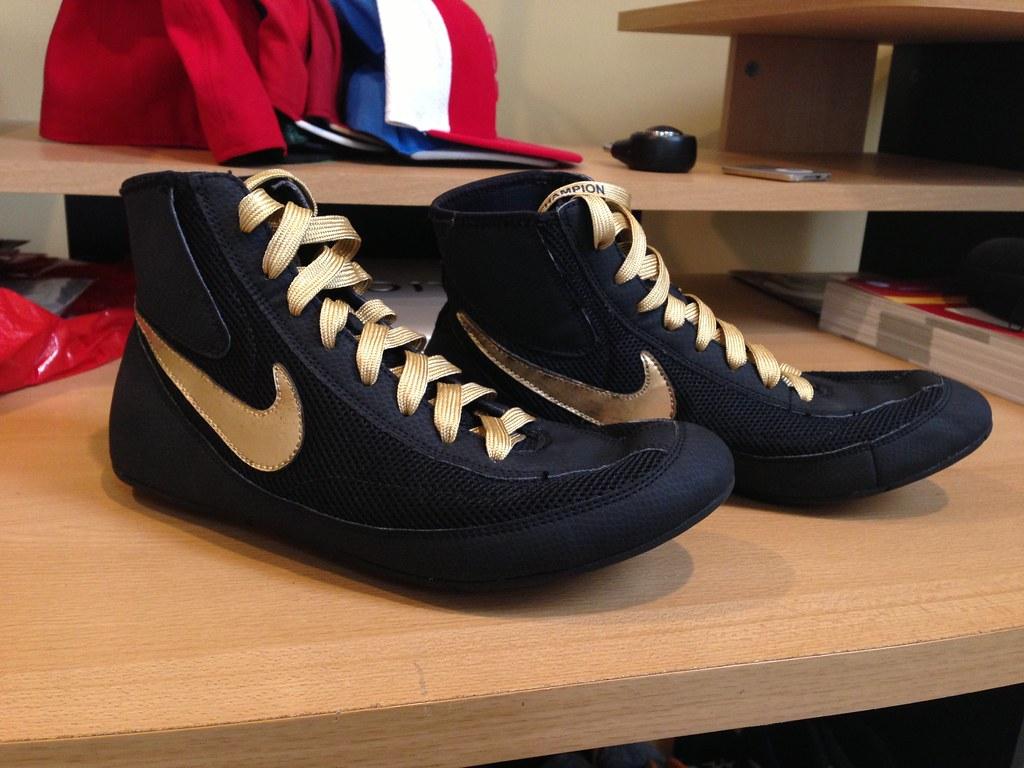 Black Gold Wrestling Shoes
