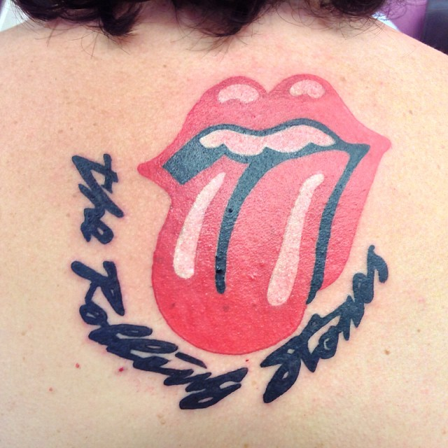 pics for rolling stones tongue tattoo. Black Bedroom Furniture Sets. Home Design Ideas