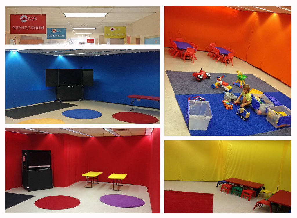 Classrooms Set Up With Scuba Walls Utilizing Stretchy