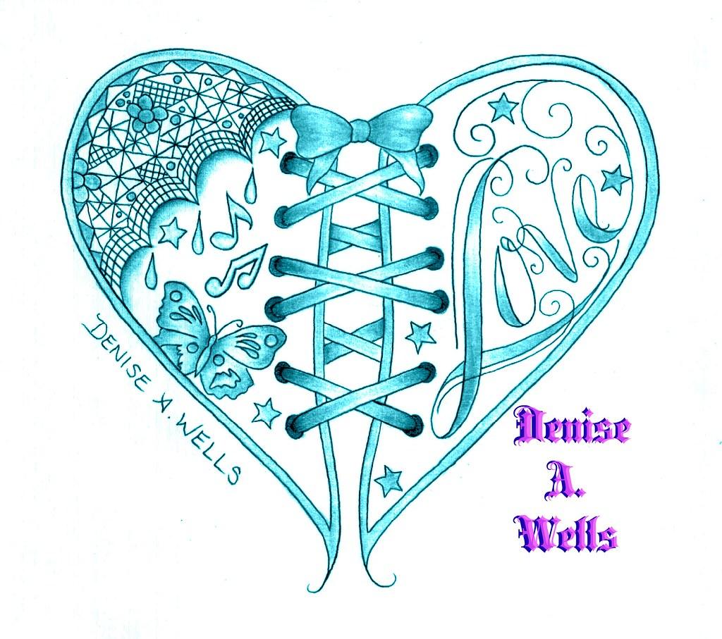 Love Heart Tattoo Design By Denise A Wells Corset
