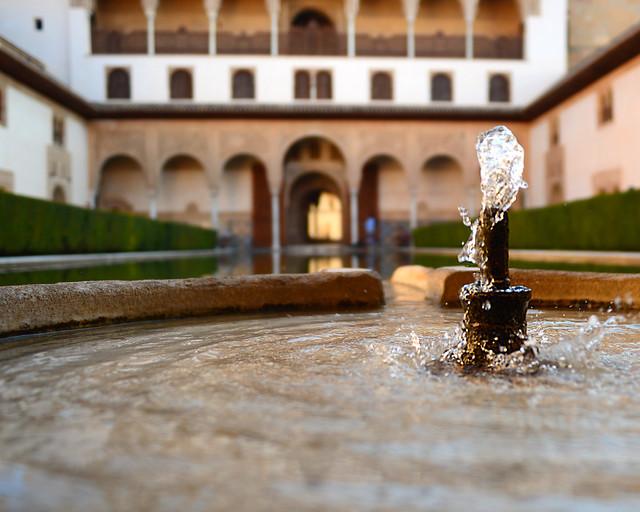 Patio de los Arrayanes de la Alhambra de Granada