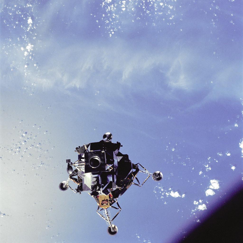 Spider Over The Ocean | View of the Apollo 9 Lunar Module ...