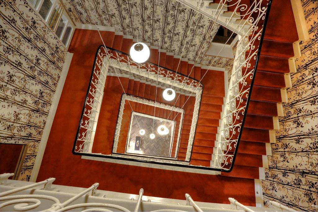 stairwell in the hotel stadt rosenheim in munich davide seddio flickr. Black Bedroom Furniture Sets. Home Design Ideas