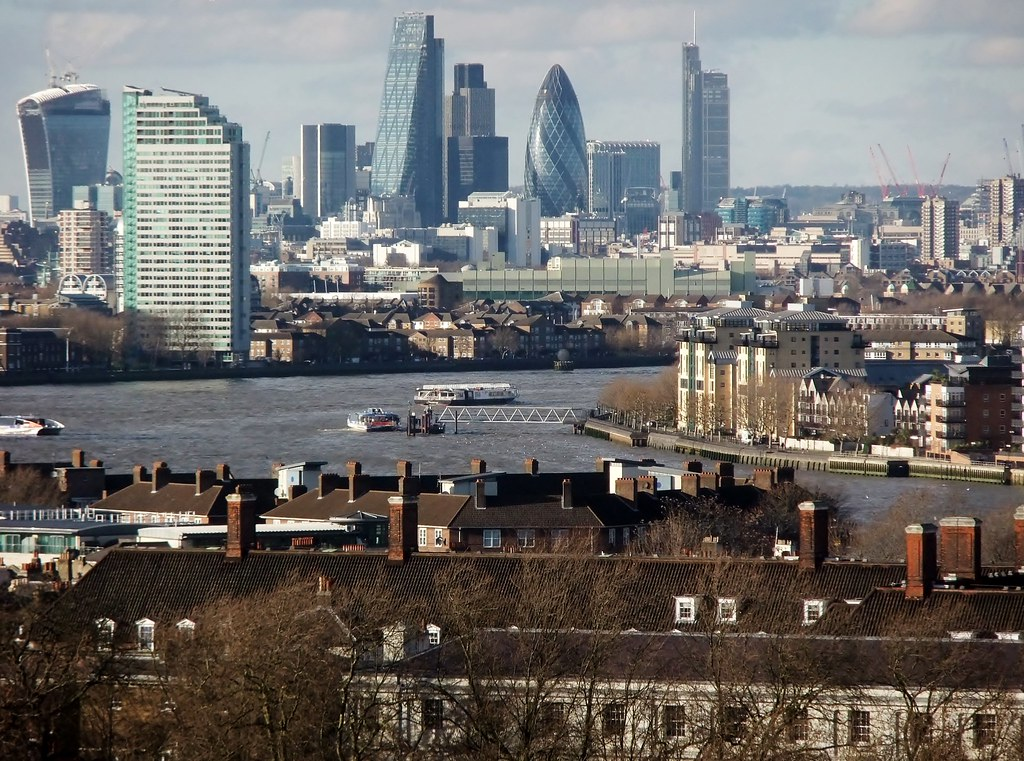 city of london cityscape view from royal observatory gree