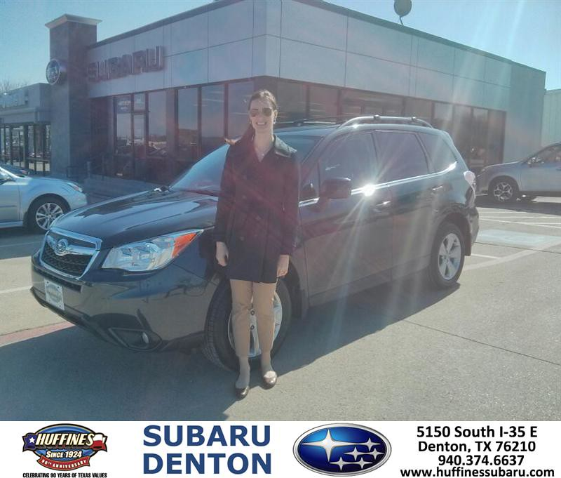 Thank You To Laura Hench On Your New 2014 Subaru Foreste