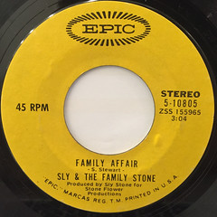 SLY & THE FAMILY STONE:FAMILLY AFFAIR(LABEL SIDE-A)