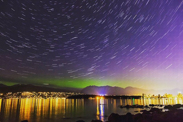 Northern Lights over Vancouver