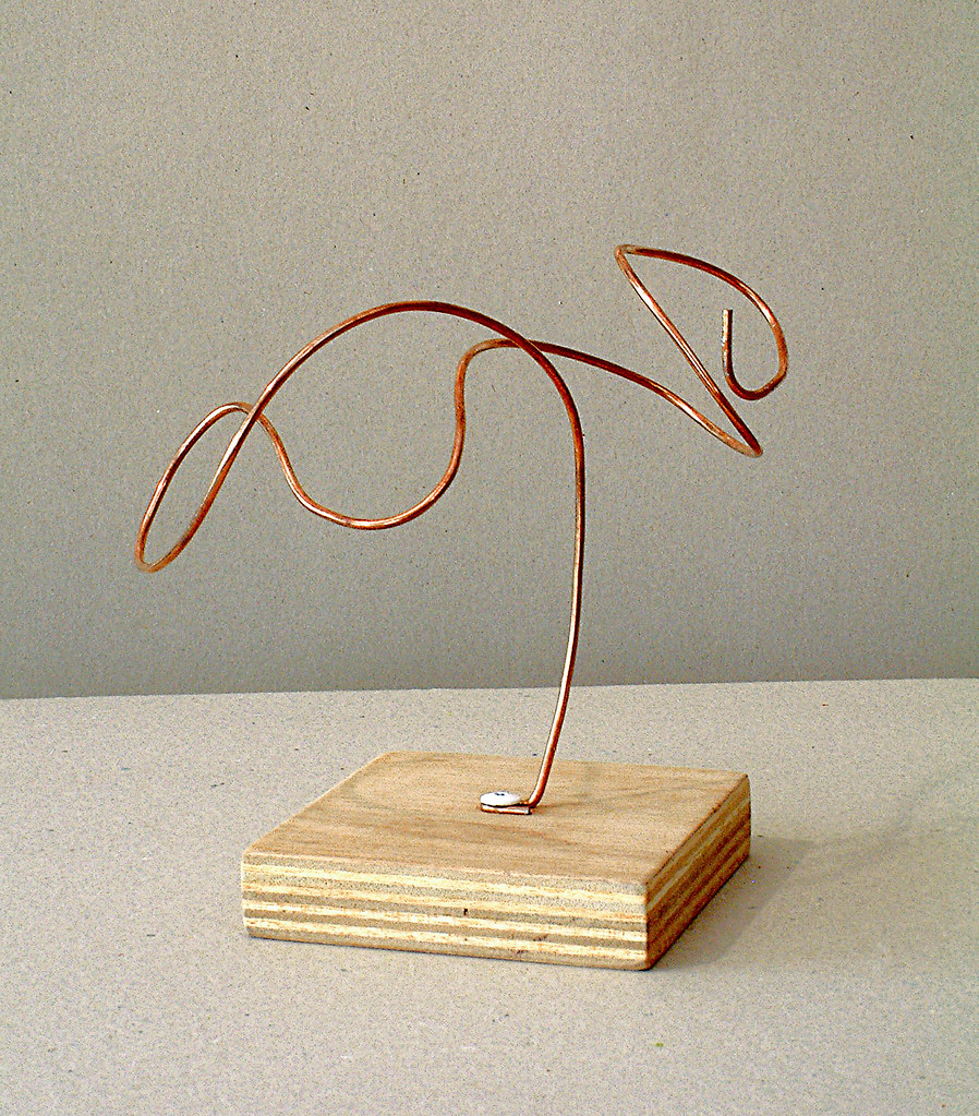 2005 A Lyrical Tree Like Abstract Organic Wire Sculpt