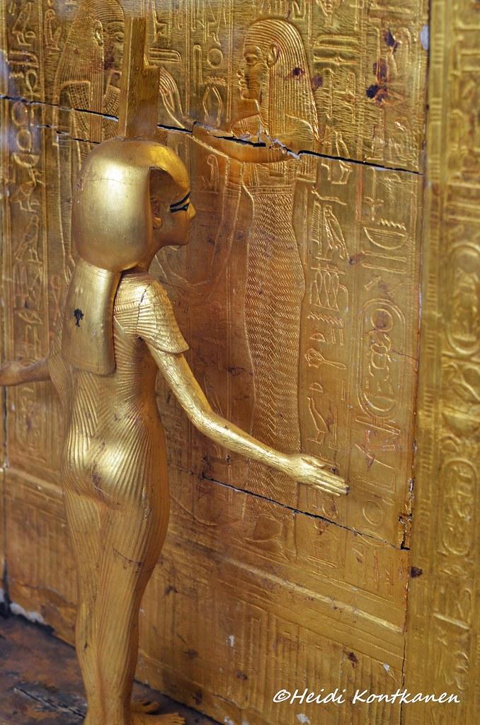 Goddess Isis At Th Canopic Shrine Goddess Isis At The