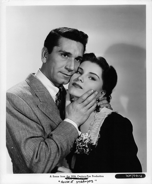 House of Strangers - Promo Photo 1 - Richard Conte & Debra Paget
