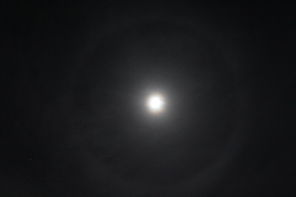 Large Ring Around The Moon Tonight