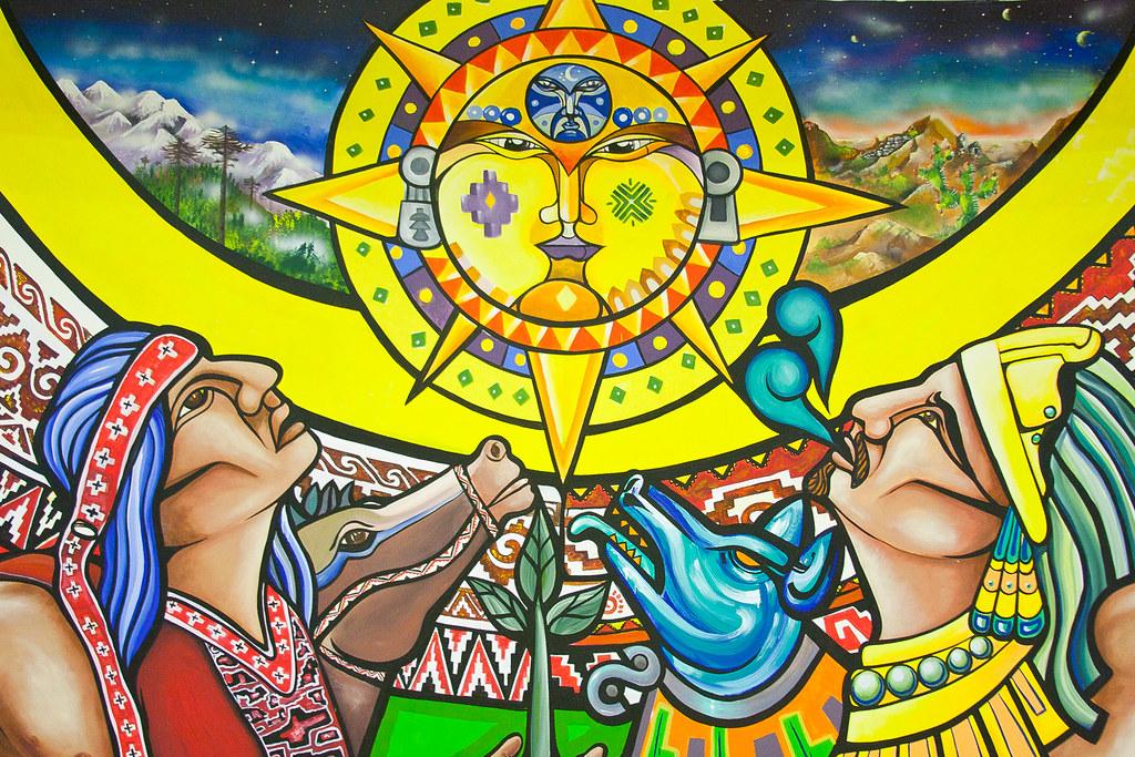 Pueblos originarios m xico mural realizado en ciudad for Mural la misma luna