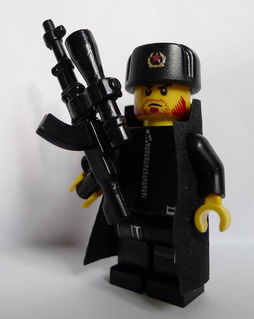 Colonel Danko with RPD-SD Machine Gun   A key NKGB operative ... Enigma Machine Message
