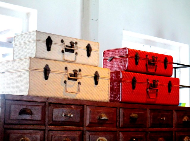 Old Courthouse, old suitcases and drawers