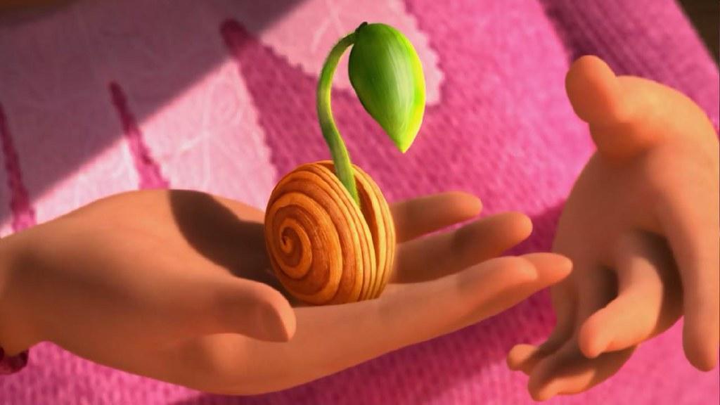 最後一棵毛毛樹的種子,象徵希望。泰德也象徵下一代,象徵世界改變的希望。圖片來源:Lorax影片截圖