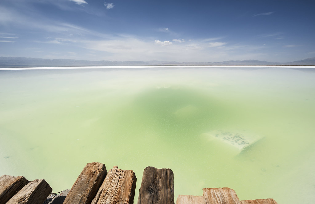 The salt lake in Chaka, Qinghai