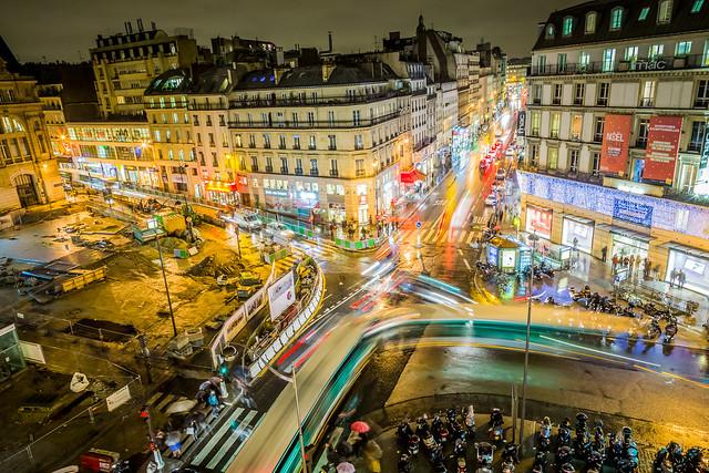 gare de paris saint lazare vue nocturne depuis une chamb flickr photo sharing. Black Bedroom Furniture Sets. Home Design Ideas