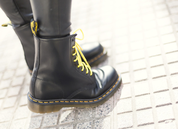 Street Style Dr Martens Leather Pants 08 Street Style Barb Flickr