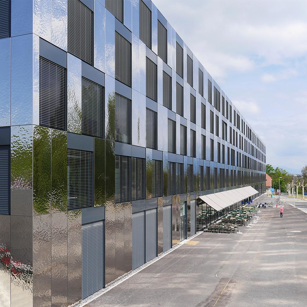 Steel Building Panels : Lausanne unil géopolis university