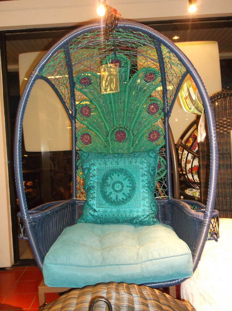 Peacock chair this week i got to see pier 1 imports for th flickr - Pier one peacock chair ...