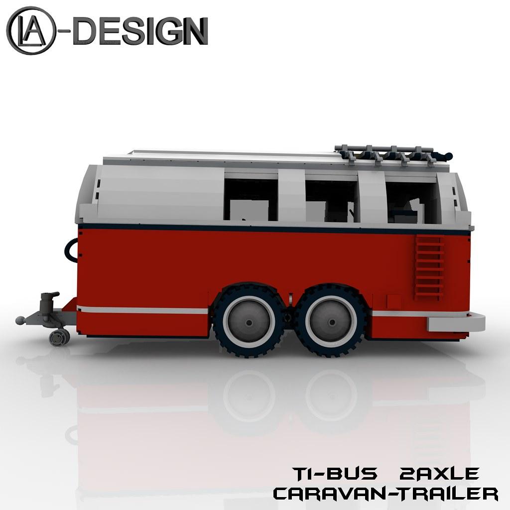 lego custom t1 10220 bus wohnwagen camper trailer 2 flickr. Black Bedroom Furniture Sets. Home Design Ideas