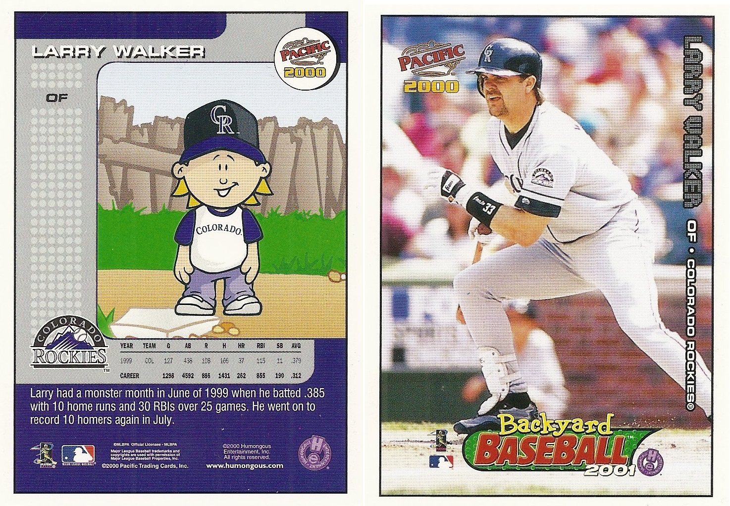 2000 pacific backyard baseball checklist supercollector catalog
