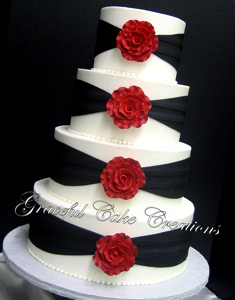 Wedding Cake Simple Flowers