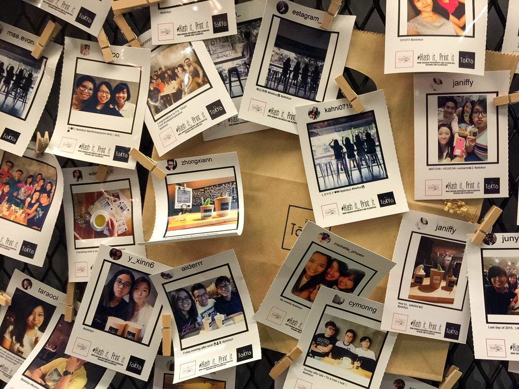 Printed photos at P.S. Tokyo