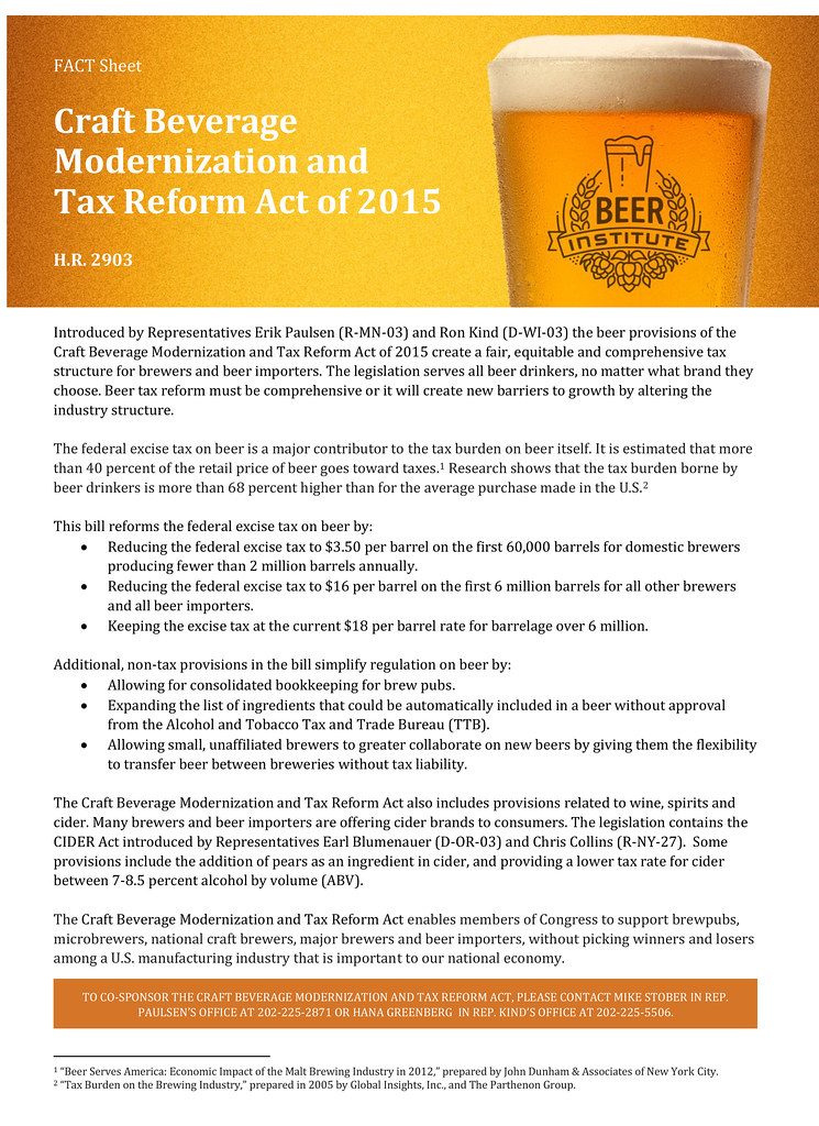 2015 Federal Tax Chart: Craft Beer Modernization 6 Tax Relief Act of 2015/2016 | Flickr,Chart