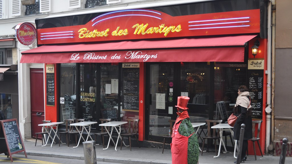 Le bistrot des martyrs 93 rue des martyrs montmartre pa for Le miroir rue des martyrs